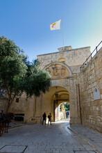 Mdina Gate In Mdina City - Malta