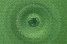 Circular Green Stained Glass Image