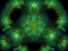 Abstract Green Background With Scratches And Lines