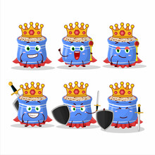 A Charismatic King Sesame Seeds Cartoon Character Wearing A Gold Crown