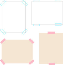 テープで留めた張り紙の背景素材