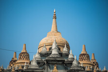 Sandstone Pagoda At Wat Pa Kung, Roi Et Province, Thailand