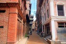 A Quaint Alley In Bhaktapur, Nepal.