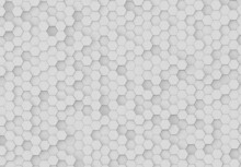Hexagons Background Pattern On Textured Metallic Surface. Abstract Hexagonal Honeycomb Graphic Wallpaper 3D Rendering