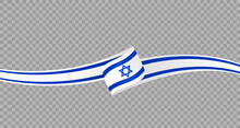 Waving Flag Of Israel Isolated  On Png Or Transparent  Background,Symbol Of Israel,template For Banner,card,advertising ,promote, Vector Illustration Top Gold Medal Sport Winner Country