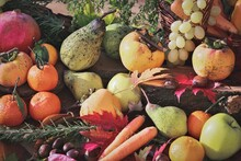 Autumn Still Life With Fruits And Vegetables