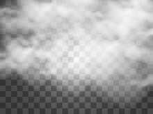 Vector Illustration Of Clouds On A Transparent Background.Realistic Rain Clouds.
