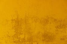 Fond Ou Texture D'arrière Plan Abstrait Jaune, Or, Mur Peint Coloré
