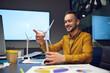 Leinwandbild Motiv Young manager, idea developing in IT office