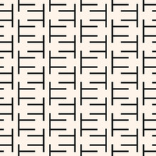 Black And White Seamless Pattern With Abstract Shapes. Geometric Modern Simple Composition. Aesthetic Modern Background With Geometric Forms. Stile Design For Decor, Textile, Wallpaper, Paper, Fabric.