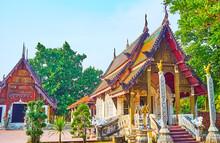 The Ubosot And Viharn Of Wat Pratu Pong, Lampang, Thailand