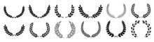 Circular Laurel Foliate Vector Icon