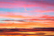 Sky at sunset with different hues and colors