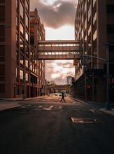 View Of The Bridge Street Dumbo New York City Sky Sunset People Brookl