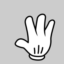 Hand Icon Mickey Mouse
