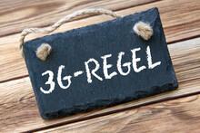 3G-Regel Und Schild Auf Holz