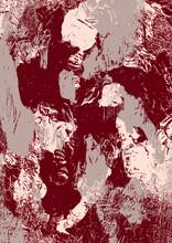 Illustration Dessin Abstrait Numérique, Digital, Moderne,  Entrelacs, Nuages De Couleurs Rouge, Carte, Nature, Nuages, Formes