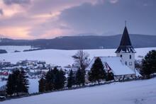 Church In A Cemetary At Valca Village, Turiec Region, Slovakia.