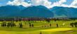canvas print picture - Pirin Golf - Golf course near Bansko