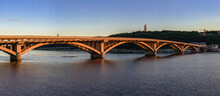 Kyiv Bridge Metro Across The Dnieper River In Ukraine