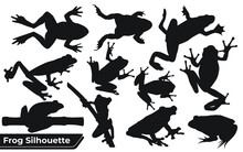Collection Of Frog Player Silhouettes In Different Poses