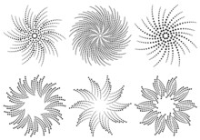 Ornaments Made Of Dots. Set Of Decorative Frames. Round Pattern. Circle Shapes. Design Background For Invitations And Holiday Cards.
