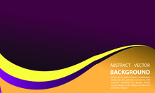 Abstract Background With Purple And Yellow Elegant Geometric Gradation Style For Vector Illustration Of Poster Template Eps 10