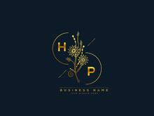 Luxury HP Logo, Initial Floral Hp H P Letter Logo Icon Design For Your Brand Or Business