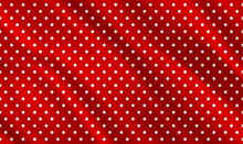 Seamless Polka Dot Pattern On Red Background. Vintage Polka Dots White And Red Pattern. Sexy Polka Dot Dress Pattern. Seamless Vector Pattern. Celebration Confetti Background.Vector Illustration EPS10