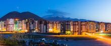 トルコ カイセリの市街地の夜景