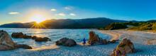 Sonnenuntergang Am Plage De Cupabia In Korsika