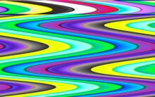 混沌のイメージ。複数の色が複雑に絡み合ったカオスのコンセプト。