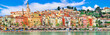 canvas print picture - panorama of Menton.beautiful town in border of France and Italy