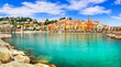 canvas print picture - Menton - beautiful town in french riviera