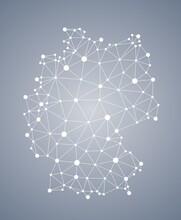 Germany Vector Polygonal Map - Modern Style
