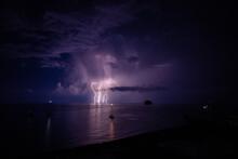 Thunderstorm In Strombli, Sicily, Italy