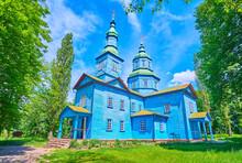 The Blue Wooden St George Church, Pereiaslav Scansen, Ukraine