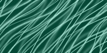 Green Stripe Print, Wavy Emerald Background, Banner With An Empty Place To Insert