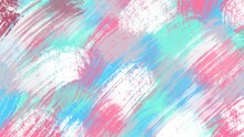 Abstract Painting Art With Blue, Pink And White Oil Paint Brush For Presentation, Website Background, Banner, Wall Decoration, Or T-shirt Design.