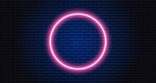 Neon Circle On Black Background