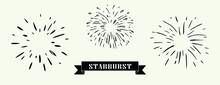Doodle Design Element, Starburst Doodle Vector Illustration