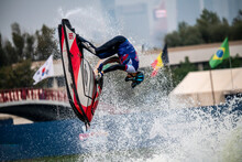 Freestyle Aquabike In Open Water At A Sports Event