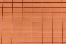 Modern Orange Tiled Wall Grid
