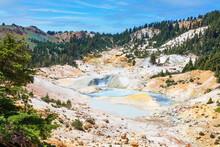 Lassen Volcanic National Park. Bumpass Hell Trail. Top View.