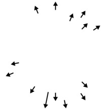 Arrows Pointing Outwards. Radial, Radiating Arrows