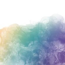アルコールインクアート背景)虹色のグラデーション 正方形 光 繊細 リラックス ナチュラル 液体 渦