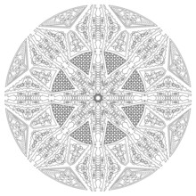Circle Ornament With All Kinds Of Figures To Color In Or To Use For Backgrounds Or Clothes
