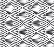 Ethnic Hand Painted Pattern. Black Symmetrical