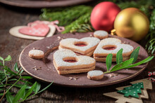 Sweet Stained Glass Cookies With Christmas Ornaments