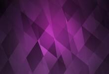 Dark Pink Vector Backdrop With Rhombus.